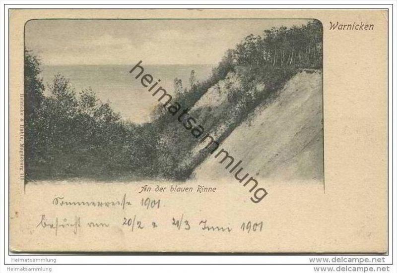 Warnicken - An der blauen Rinne 1901