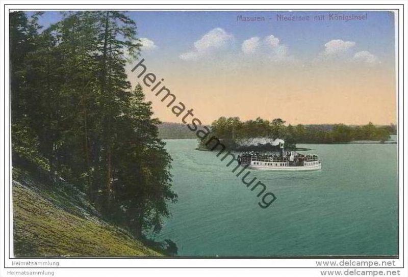 Masuren - Niedersee mit Königsinsel ca. 1920