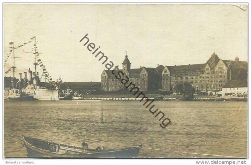 Sonderburg - Marinestation - Foto-AK - Verlag J. Boisen Sonderburg