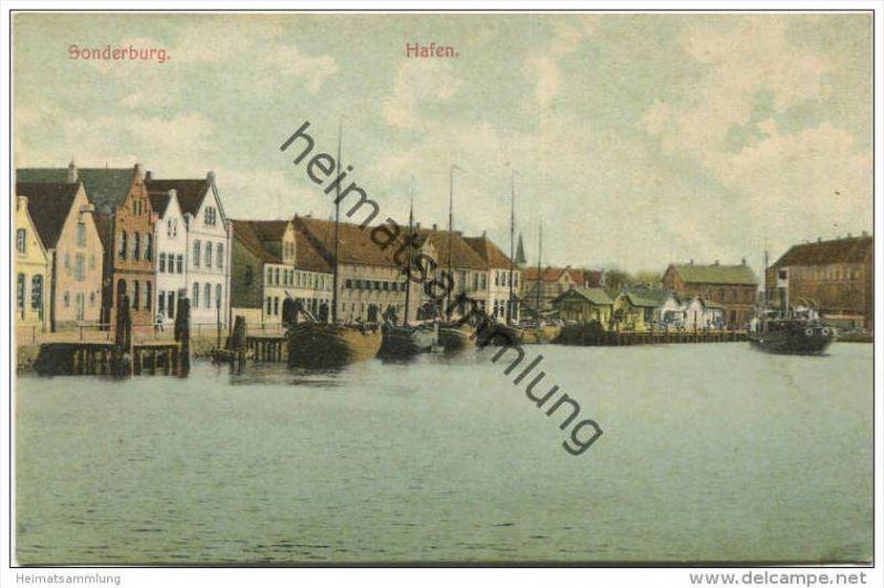 Sonderburg - Hafen - Verlag Th. Lau Sonderburg