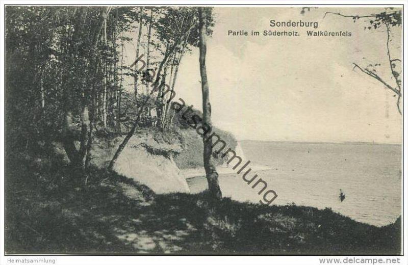 Sonderburg - Sonderborg - Partie im Süderholz - Walkürenfels - Verlag Chr. Quist Sonderburg