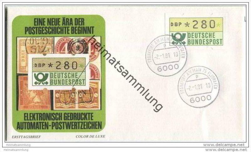 Ersttags-Brief mit elektronisch gedrucktem Automaten-Postwertzeichen - 2. Januar 1981 (B147y)
