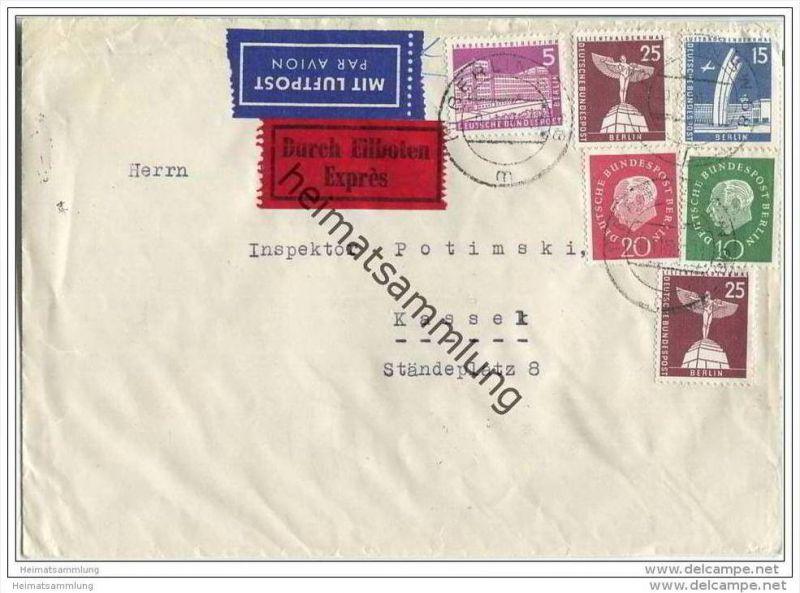 Brief Eilzustellung-Luftpost  von Berlin nach Kassel - 9. November 1959