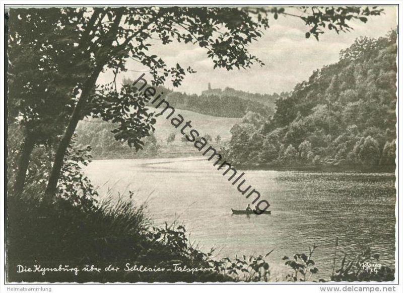 Die Kynsburg über der Schlesier-Talsperre - Popp-Verlag Heidelberg - Einzelhandabzug