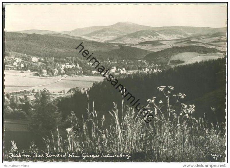 Blick von Bad Landeck zum Glatzer Schneeberg - Popp-Verlag Heidelberg - Einzelhandabzug