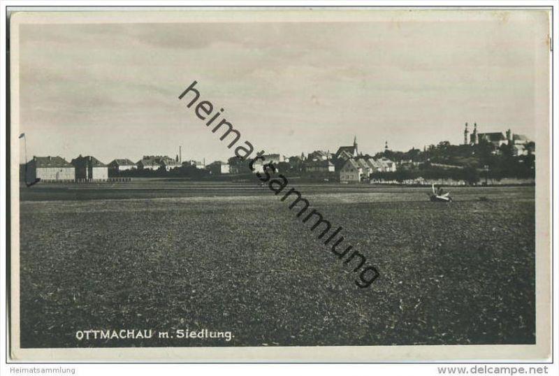 Otmuchow - Ottmachau mit Siedlung - Foto-AK 30er Jahre