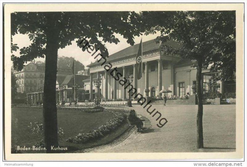 Baden-Baden - Kurhaus - Foto-AK