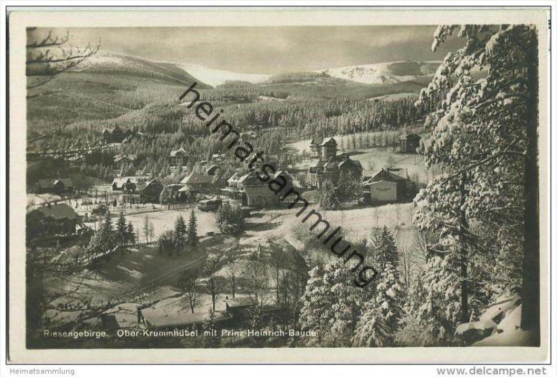 Karpacz - Ober-Krummhübel mit Prinz-Heinrich-Baude - Foto-AK