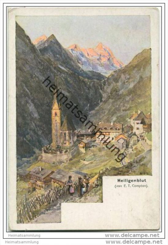 Heiligenblut - Künstlerkarte E. T. Compton