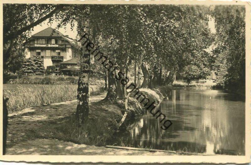 Bad Schandau - Hotel und Pension Ostrauer Scheibe - Besitzer Otto Rämisch - Verlag Gebr. Metz Tübingen 30er Jahre