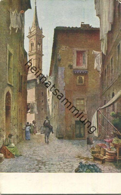 Roma spartita - Vecchie case del Vicolo della Volpe - Acquarelli di F. Roesler