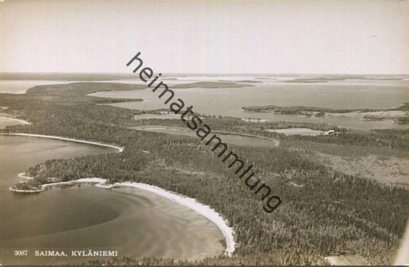 Saimaa - Kyläniemi - Foto-AK - Luftaufnahme