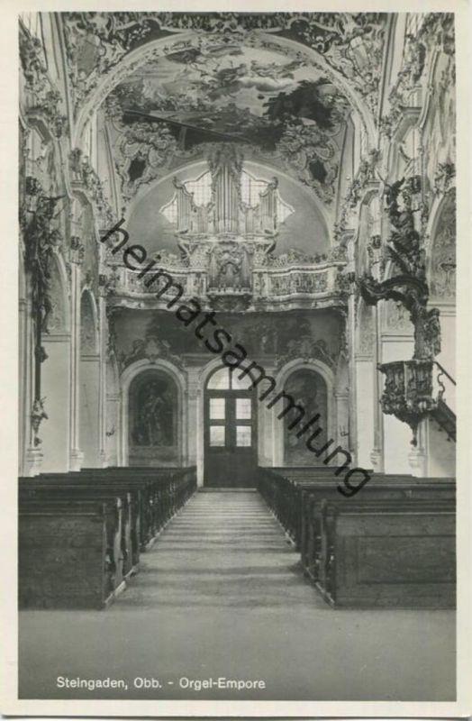 Steingaden - Orgel - Empore - Foto-AK - Verlag Thomas Huber Steingaden