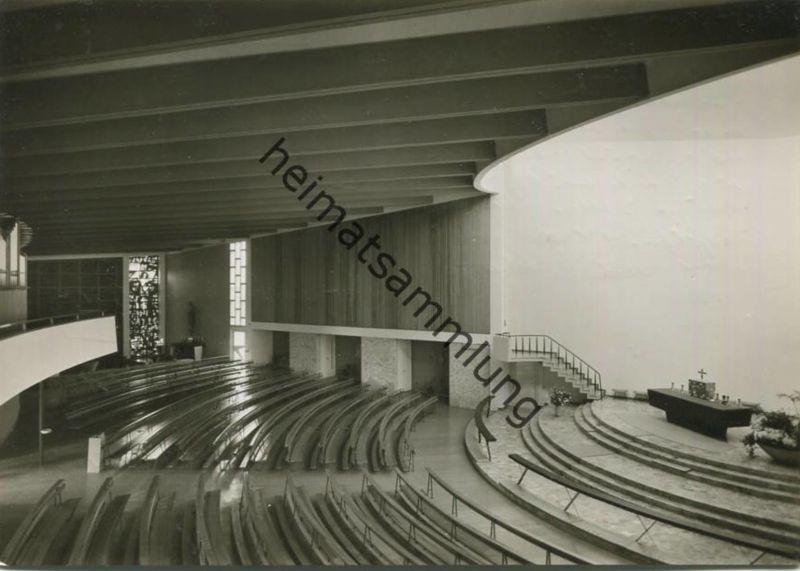 Ulm - Heilig Geist Kirche - Innenansicht - Donau - Kuhberg - Foto-AK Großformat - Verlag M. Buck & Co. Ulm gel. 1962