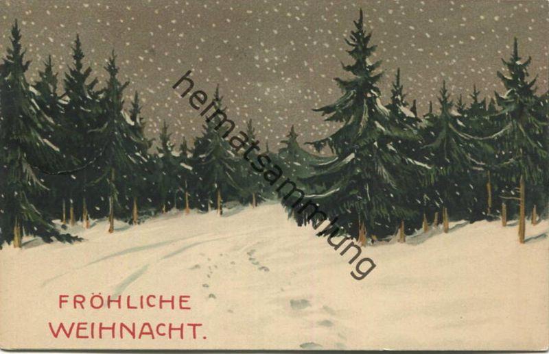 Fröhliche Weihnacht - Serie 1291 Weihnachten im Walde - Meissner & Buch - gel. 1929