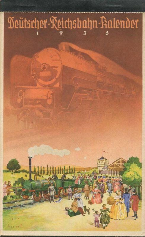 Reichsbahn-Kalender 1935 - vollständiges Exemplar - Herausgegeben vom Pressedienst der Deutschen Reichsbahn - Konkordia