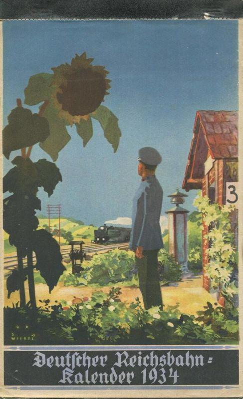 Reichsbahn-Kalender 1934 - vollständiges Exemplar - Herausgegeben vom Pressedienst der Deutschen Reichsbahn - Konkordia