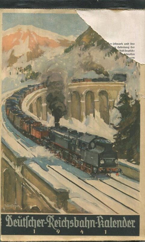 Reichsbahn-Kalender 1941 - vollständiges Exemplar - Herausgegeben vom Pressedienst der Deutschen Reichsbahn - Konkordia