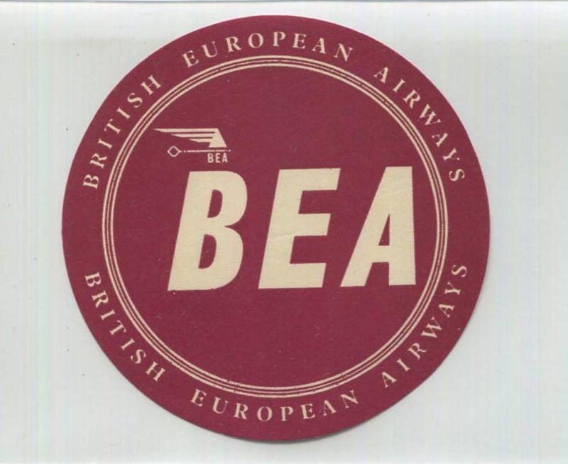BEA British European Airways - Koffer-Aufkleber
