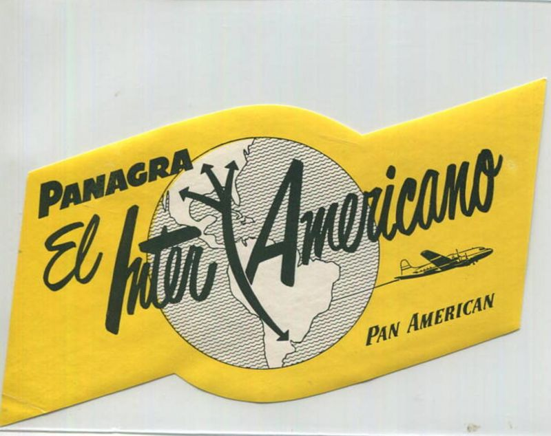 Panagra El Inter Americano Pan American - Koffer-Aufkleber
