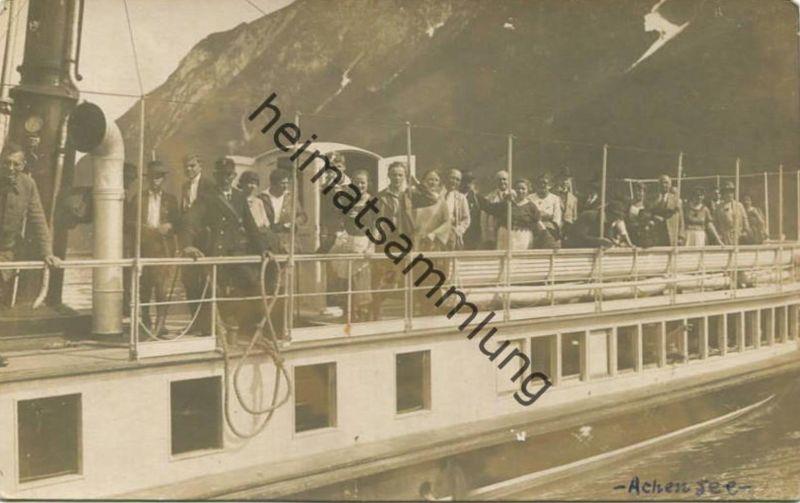 Achensee - Rundfahrt am Achensee Foto-AK - Julius Werner Photograph 1923
