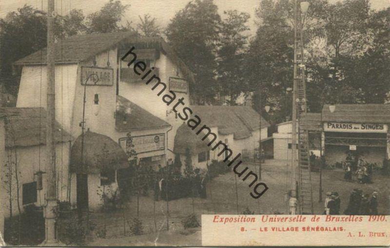 Belgien - Exposision Universelle de Bruxelles 1910 - Le village Senegalais