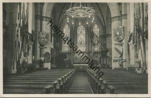 Wilhelmshaven - Inneres der Marine-Gedächtnis-Kirche - Evangelische Garnisonskirche - Ehrenschmuck zum Gedenken der 3474