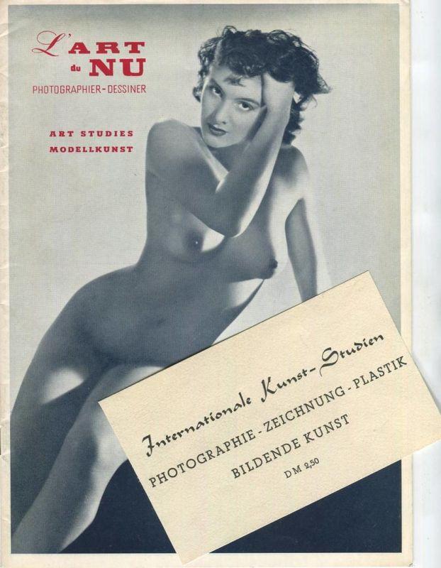 L' Art du Nu 1954 - Photographier-Dessiner - Art Studies Modellkunst - 30 Seiten mit 28 Abbildungen