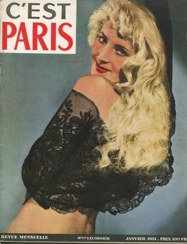 c' est Paris Revue Mensuelle Numero 12 1951 - 36 Seiten mit vielen Abbildungen - Sprache Französisch