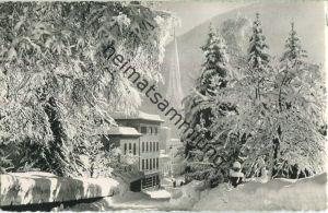 Davos - Wintertag bei der Platzkirche - Foto-Ansichtskarte - Verlag Otto Furter Davos-Platz