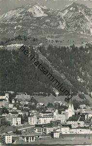 Davos-Platz gegen Schatzalp und Schiahorn - Foto-AK - Verlag Otto Furter Davos-Platz
