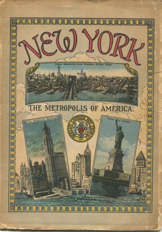 New York The Metropolis of America 20er Jahre - 20 Seiten mit 40 Abbildungen in Postkartengrösse - Text Englisch