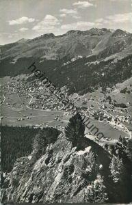 Davos vom Seehorn aus mit Amselfluh und Körbshorn - Foto-AK - Verlag Otto Furter Davos-Platz