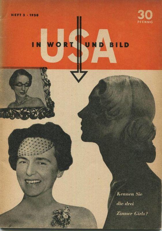USA in Wort und Bild - Heft 3 1950 - 50 Seiten mit vielen Abbildungen
