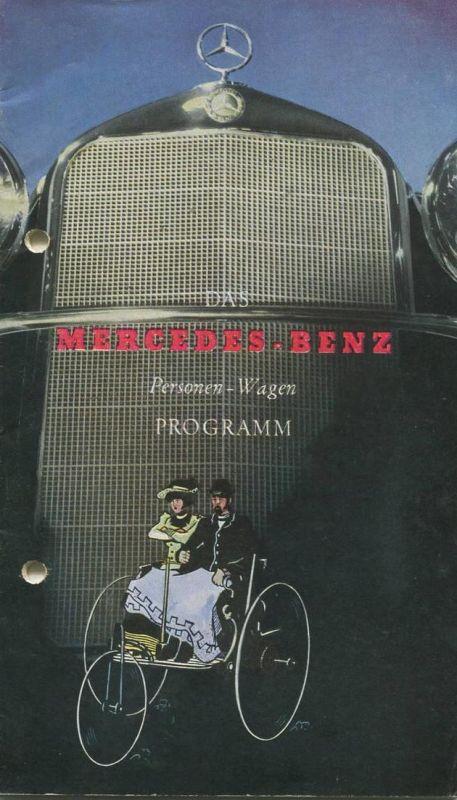 Das Mercedes-Benz Personen-Wagen Programm 30er Jahre - 40 Seiten mit vielen Abbildungen