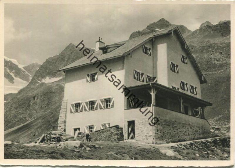 Neue Regensburger Hütte - Stubai - Foto-AK Grossformat - Verlag Deutscher Alpen-Verein