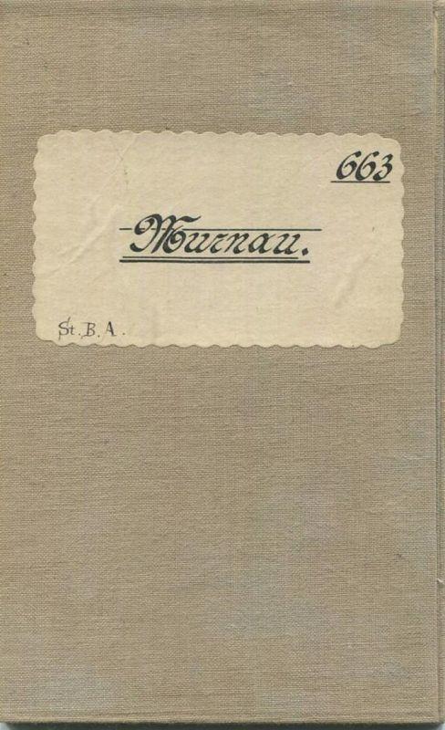 Topografische Karte 663 Murnau - Karte des Deutschen Reiches 1:100'000 33cm x 40cm auf Leinen gezogen - Herausgegeben vo