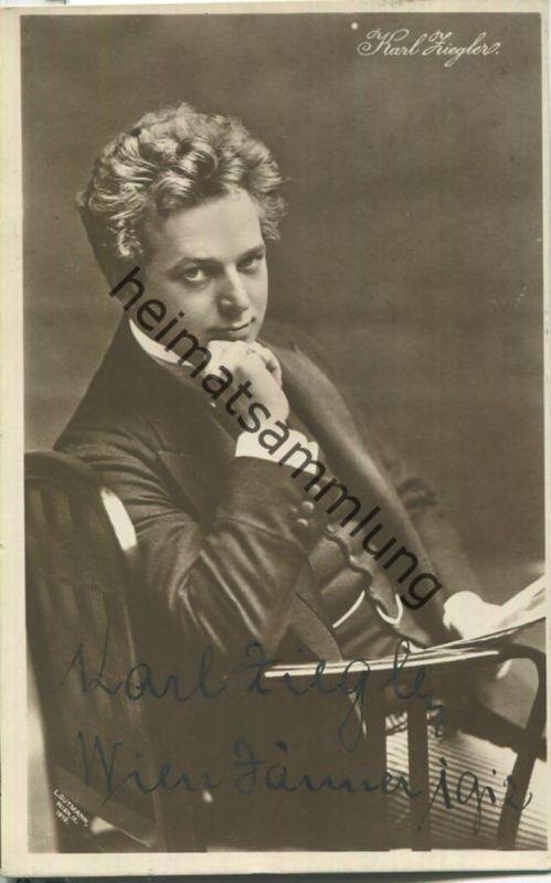 Karl Ziegler - Österreichischer Schauspieler - Autogramm - Verlag Brüder Kohn Wien