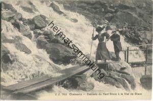 Chamonix - Cascade du Nant-Blanc et la Mer de Glace - Edition Jullien freres Geneve