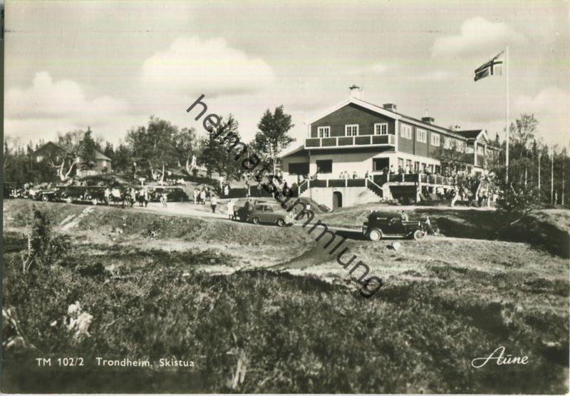 Trondheim - Skistua - Foto-Ansichtskarte 50er Jahre - Verlag Knut Aune Trondheim