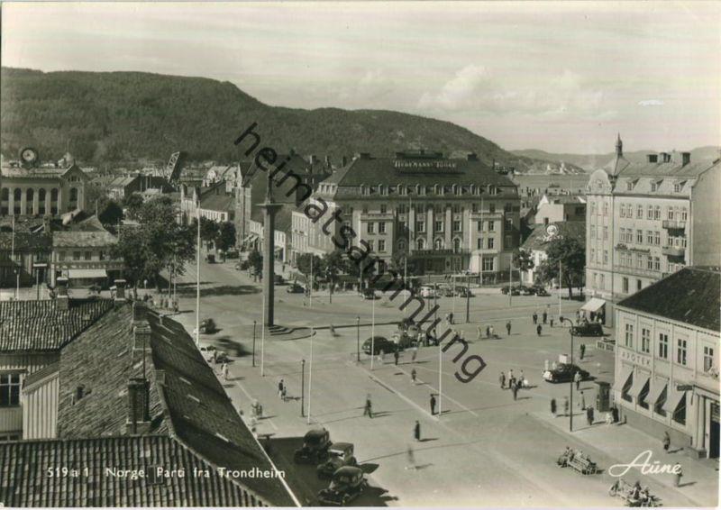 Trondheim - Parti fra ... - Foto-Ansichtskarte 50er Jahre - Verlag Knut Aune Trondheim