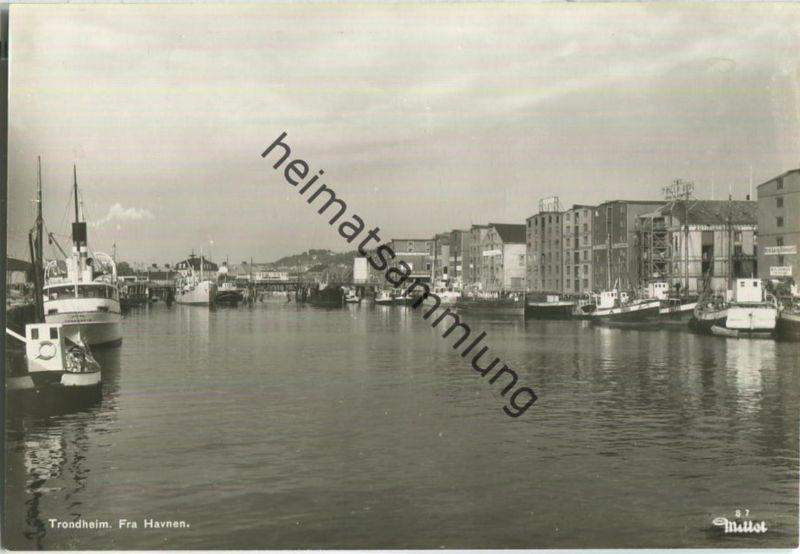 Trondheim - Fra Havnen - Foto-Ansichtskarte 50er Jahre - Verlag Mittet & Co A/S Oslo