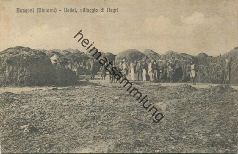Libyen - Bengasi - Uadai - villaggio di Negri - gel. 1912