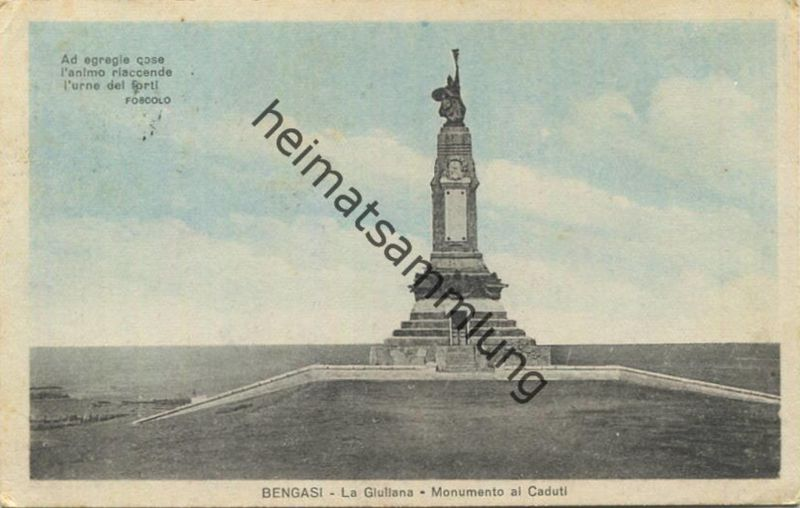 Bengasi - La Guiliana Monumento al Caduti gel. 1925