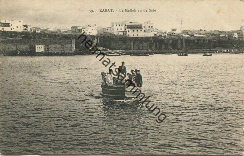 Rabat - Le Mellah vu de Sale - Rückseite beschrieben