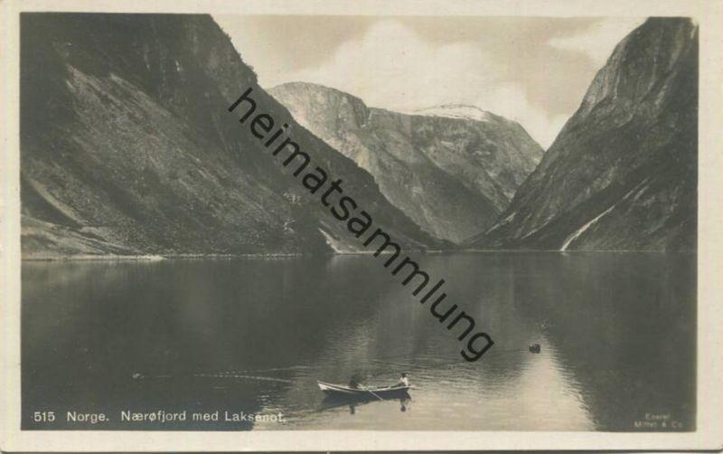 Norge - Nærøyfjord med Laksennot - Foto-AK 20er Jahre