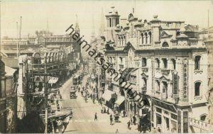Shanghai - Nanking Road - Strassenbahn - Foto-Ansichtskarte