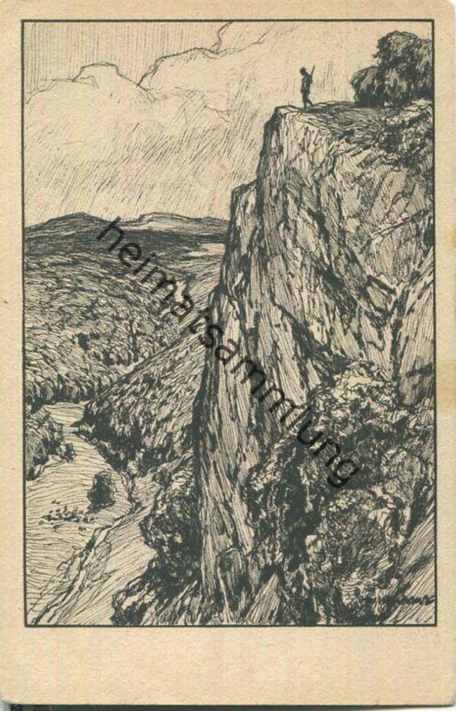 Und wenn die Tiefe schwül und träumend ruht - Eichendorff-Ubbelohde Deutsche Heimat - Künstlerkarte