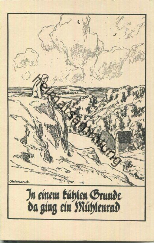 In einem kühlen Grunde - Deutsche Volkslieder - Künstlerkarte signiert Otto Ubbelohde - Verlag Stiftungsverlag Potsdam