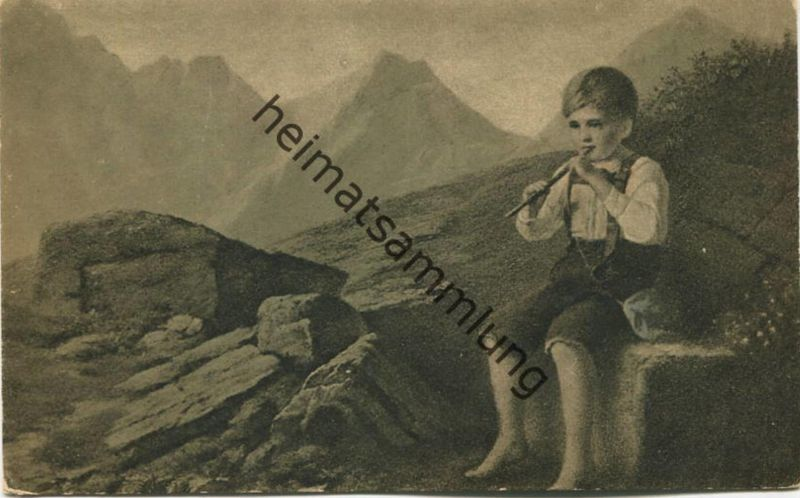 Des Hirtenknaben Morgenlied - Künstlerkarte F. Schmid-Breitenbach